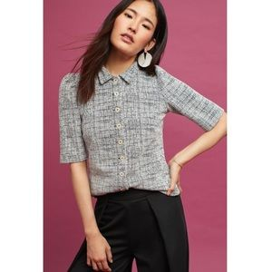 Vanessa Virginia Puffed Sleeve Button Down Top.